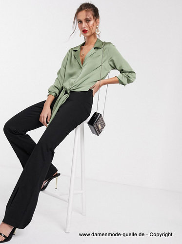 Elegante Business Damen Bluse 2020 in Grün