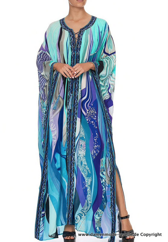 Langes Boho Style Stand Maxikleid 2021