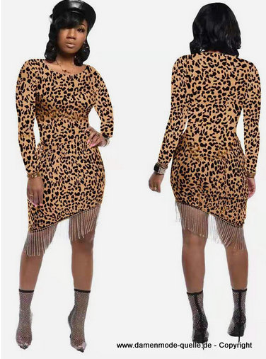 Leopard Print Club Party Kleid 2020