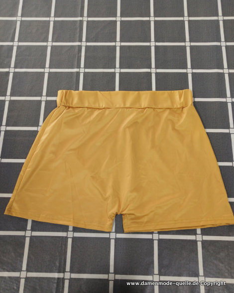 Print Hot Pants in Gold Gr S