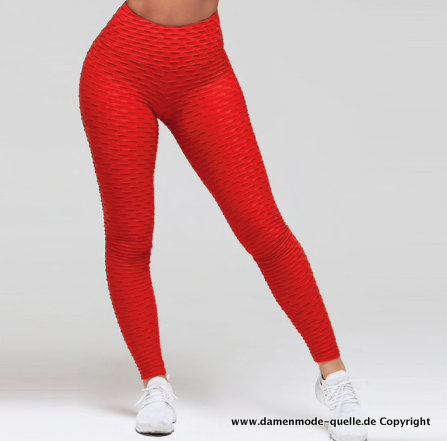 Sexy Push-Up Leggings in Rot