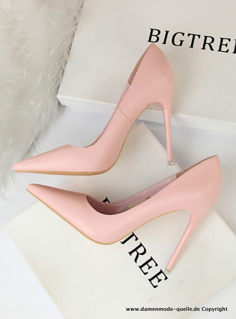 Stiletto Damen Pumps in Rosa Elegant