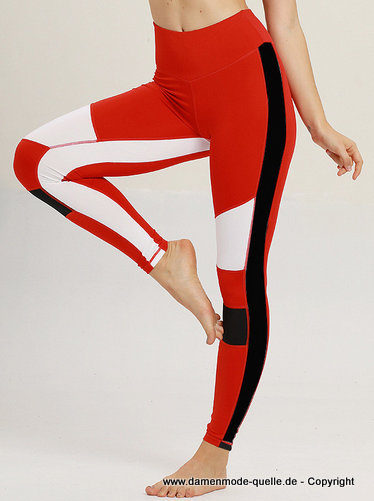 Yoga Hose mit Hohe Taillie in Rot