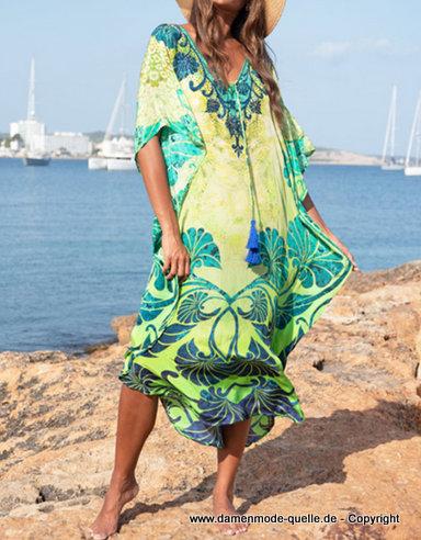 - Kleider 2020   Print Sommer Strandkleid 2020 Lang in ...