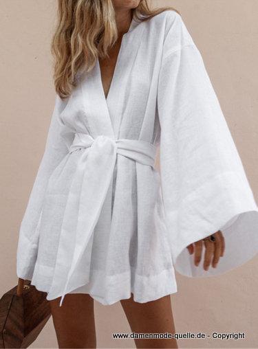 kleider 2021  kurzes langarm sommer wickelkleid mit Ärmel