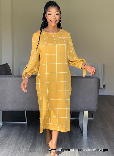 kleider 2021 | langarm sommer maxikleid 2020 in gelb