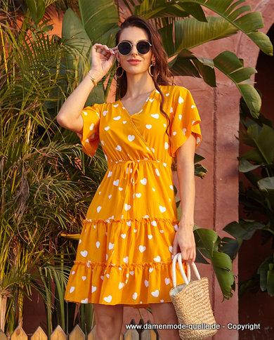 - Kleider 2020 | Damen Sommerkleid 2020 Kurz mit Cascading ...
