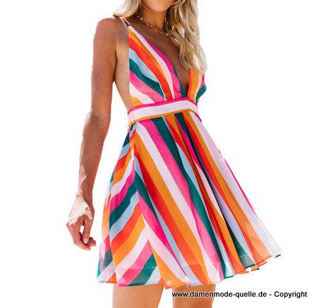 Kleider 2021 | Multi Color A Linie Sommerkleid 2020 Kurz ...