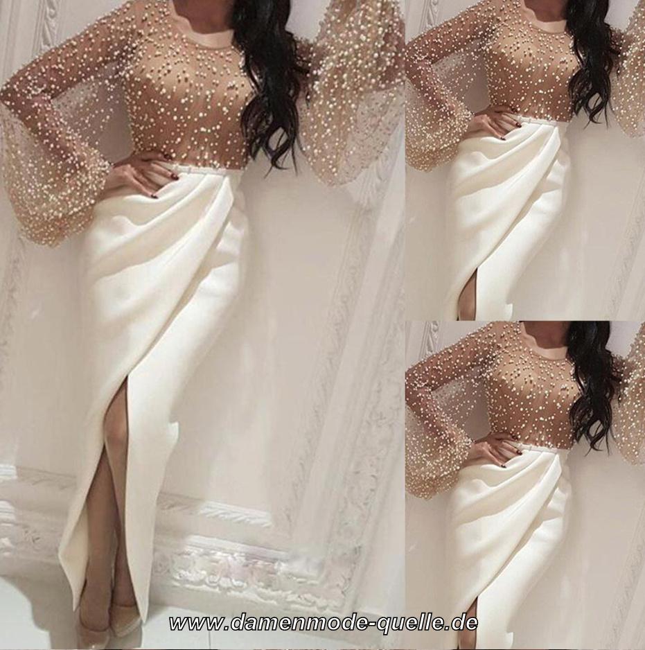 Kleider 2021 | Sexy Satin Standesamt Abendkleid in Weiß ...