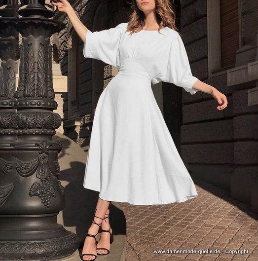 Kleider 2021 | Vintage Sommerkleid 2020 Wadenlang in Weiss ...