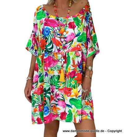 Kleider 2021 Plus Size Hangerchen Sommerkleid 2020 Mit Blumenmuster Damenmode Gunstig Online Kaufen