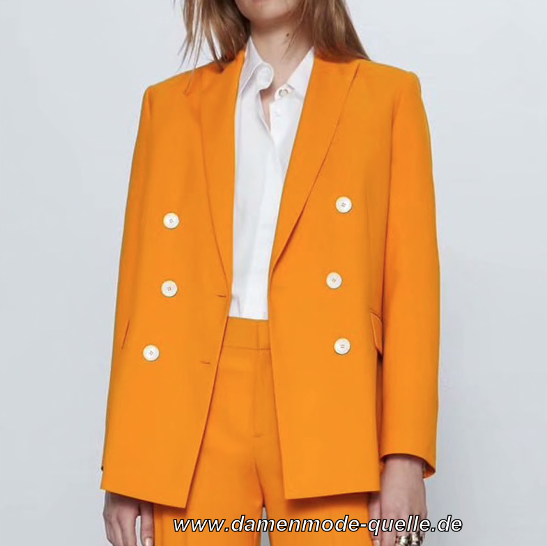 Damen Blazer Elegant in Orange