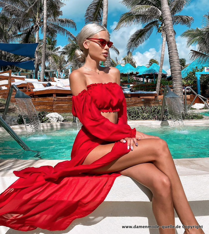 Sommer Strand Outfit 2021 Sexy in Rot
