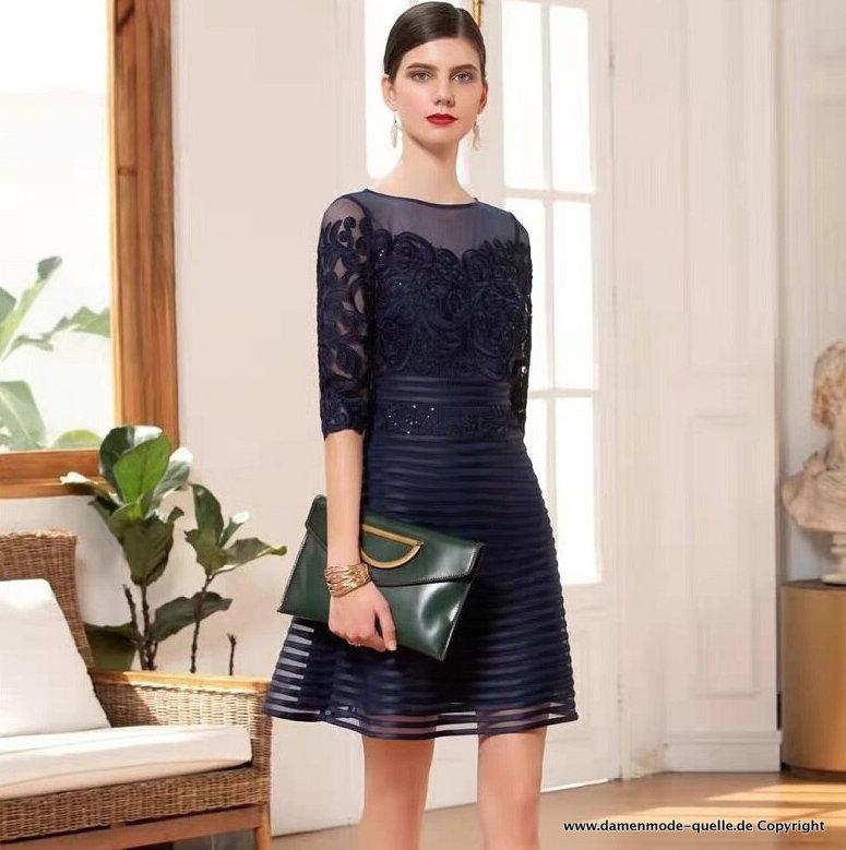 Kleider 2021 Kurzes Elegantes Langarm Kleid 2021 Mit Spitzen Armel In Dunkel Blau Damenmode Gunstig Online Kaufen