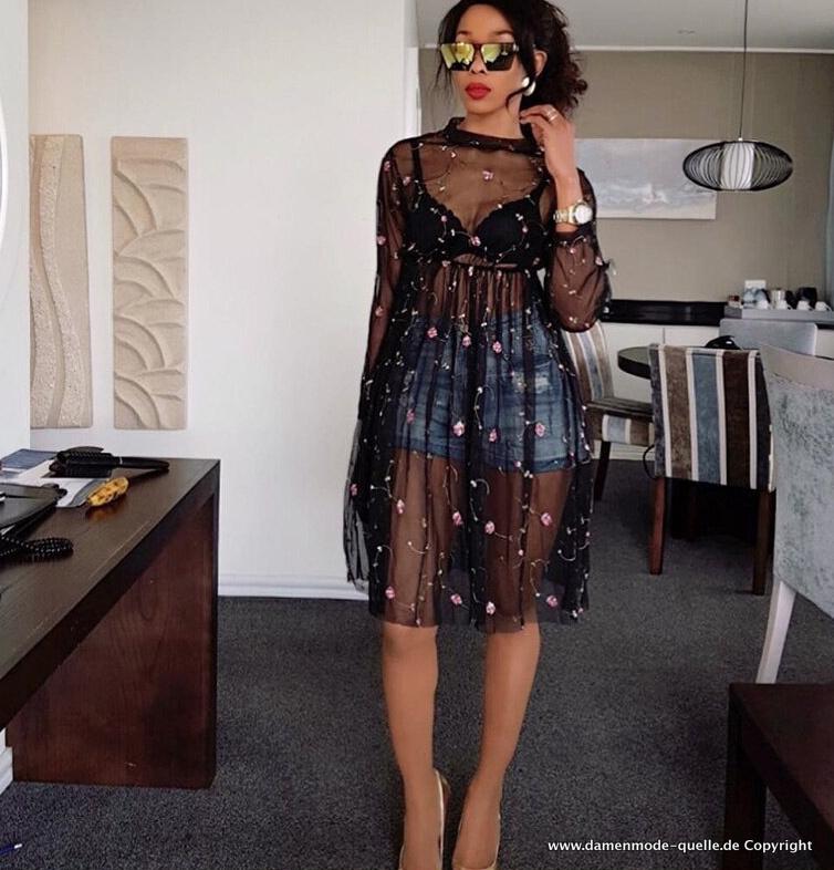 Kleider 2021 Sexy Spitzen Kleid Durchsichtig Mit Blumen Damenmode Gunstig Online Kaufen
