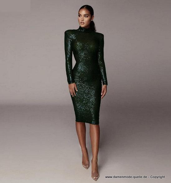 - kleider 2020 | langarm pailletten midikleid 2020 elegant