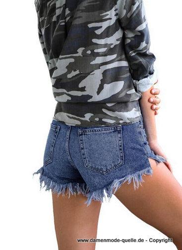 Neuheiten | Kurze Sommer Jeans Hose 2020 Blau | Damenmode ...