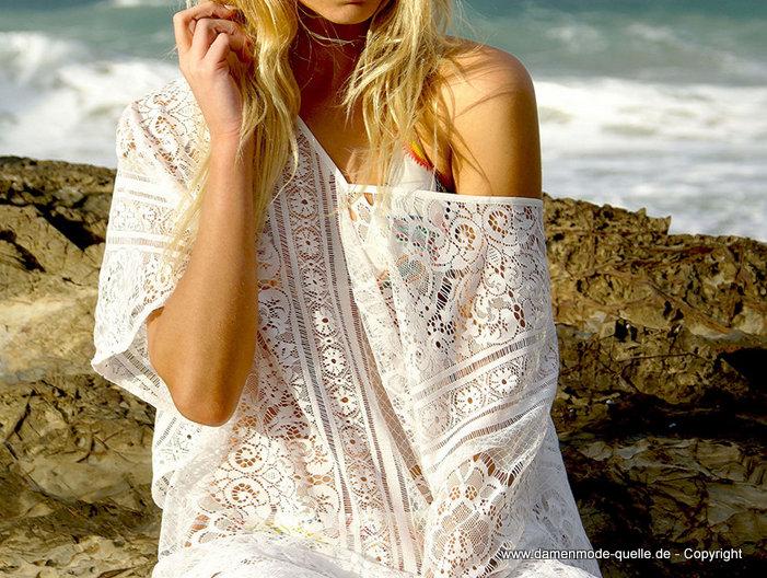 - kleider 2020 | weiße tunika sommer strandkleid 2020 aus